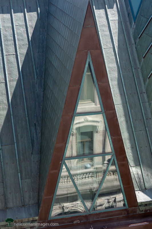 A Building Reflection in Quebec City