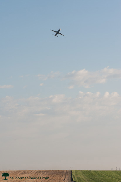 Aircraft Departing over the Plains