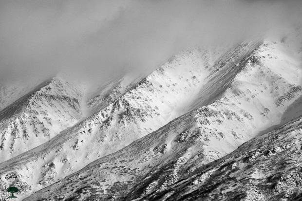 Ridges in Alaska Mountains