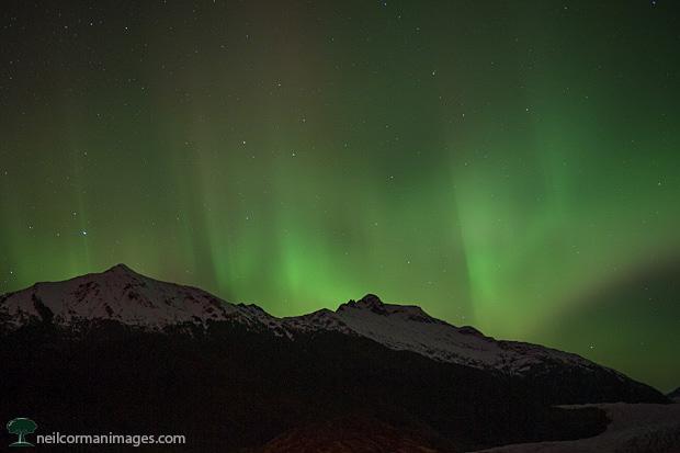 Aurora Borealis in Juneau, Alaska