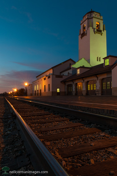 Boise Union Pacific Depot at Dusk