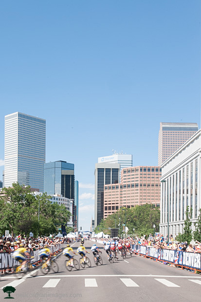 Cycling in Downtown Denver