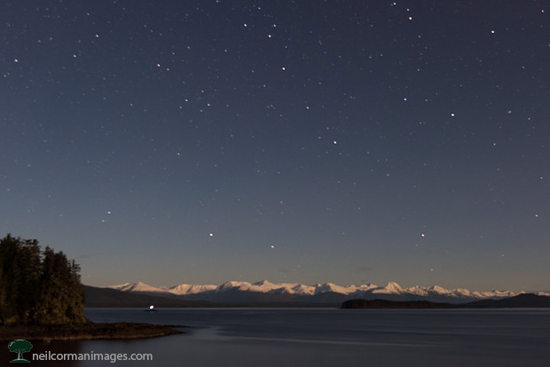 Chilkat Range at Night