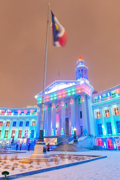 Christmas at the City and County of Denver Building