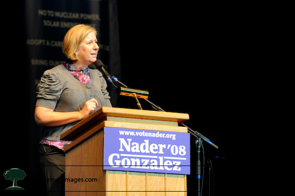Cindy Sheehan at the Ralph Nader Super Rally