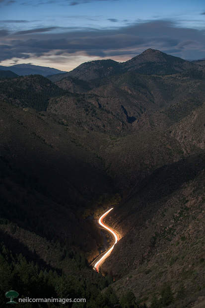 Clear Creek Canyon under a Full Moon