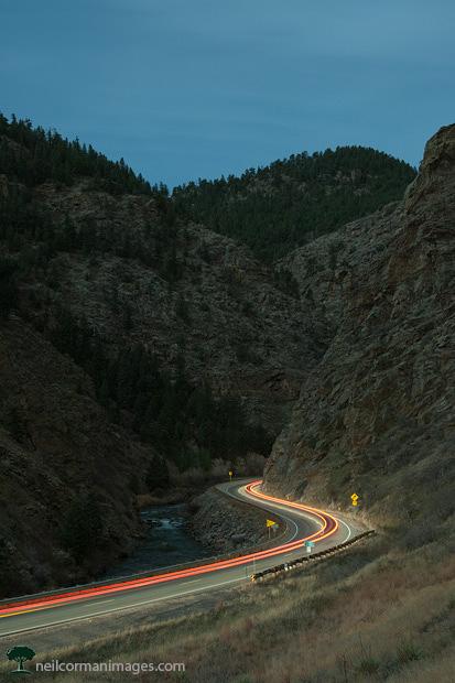 Clear Creek Canyon at Night