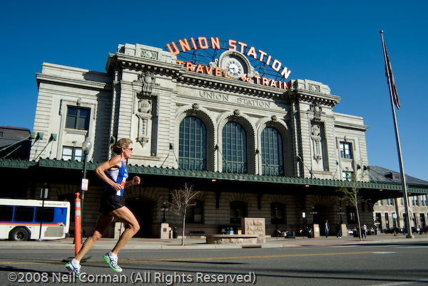 Colfax Marathon passes by Union Station