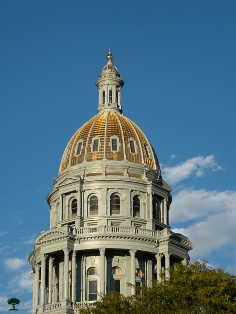 Colorado State Capitol Under Blue Sky