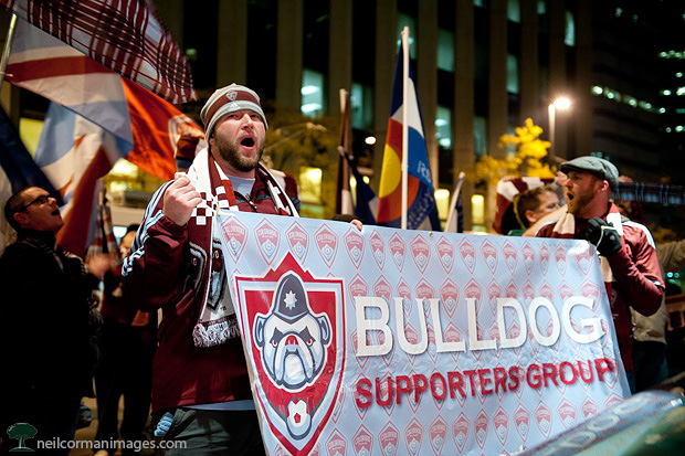 Colorado Rapids Bulldog Supporters in 2010