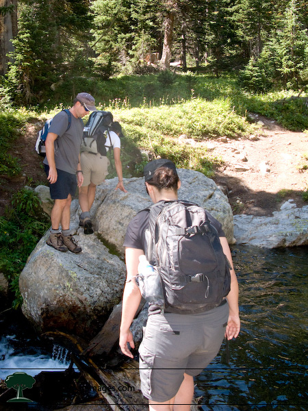 Crossing the St. Vrain Glacier Creek