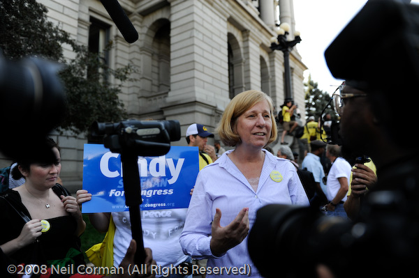 Cindy Sheehan at the Colorado State Capitol