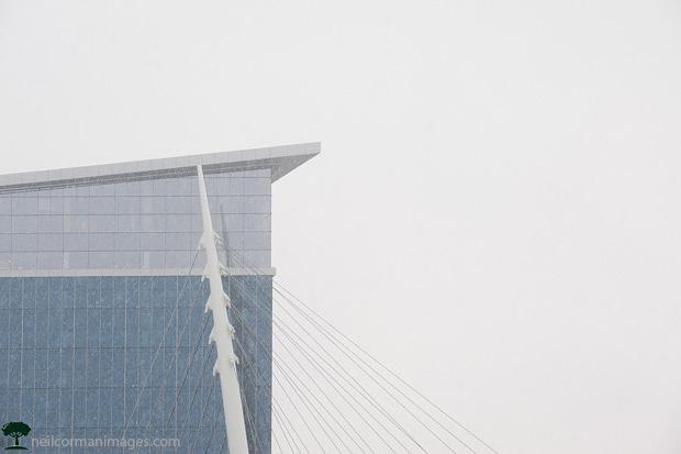 Davita Building in the Snow