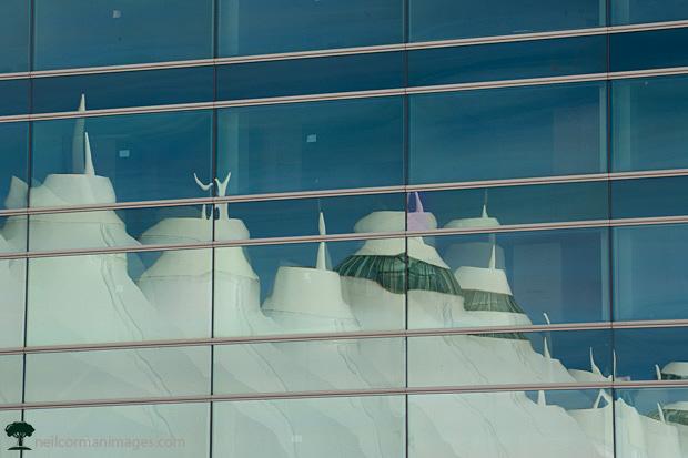 Denver International Airport Reflection