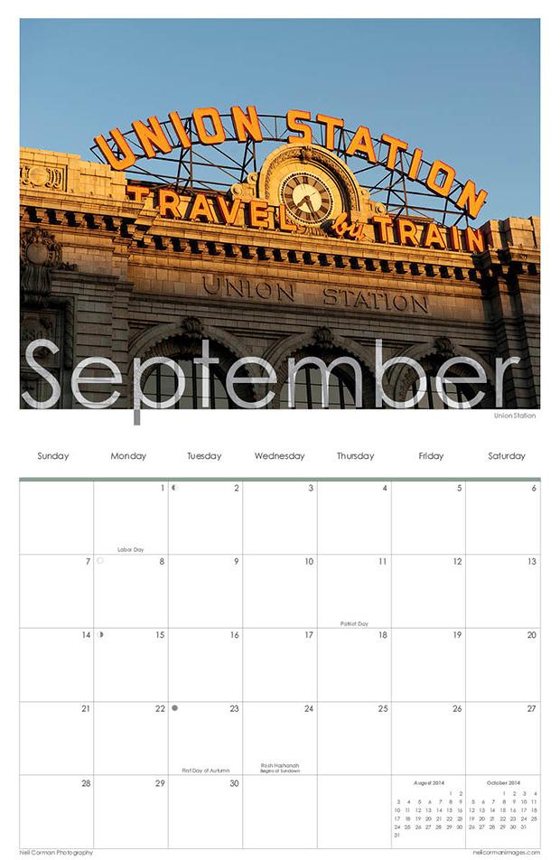September 2014 - Denver Calendar