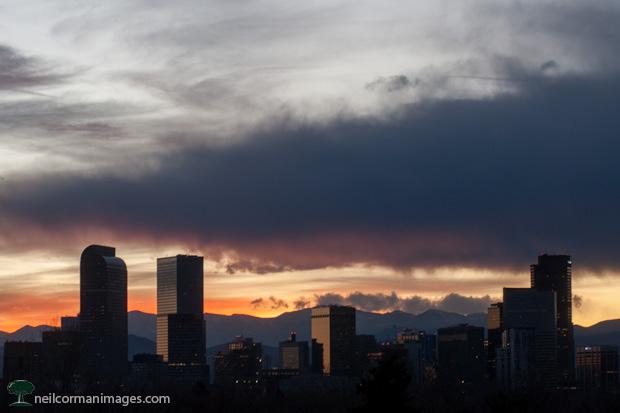 Denver Skyline at Dusk from City Park