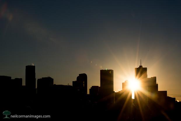 First Sunrise of 2015 over Denver Colorado