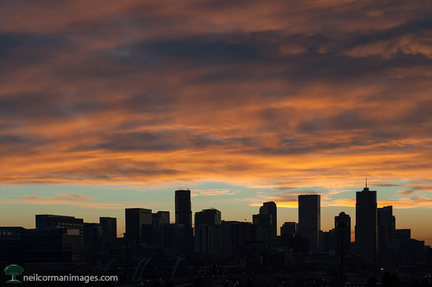New Years Morning Sunrise in Denver 2013
