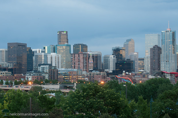 Denver Skyline in the Spring
