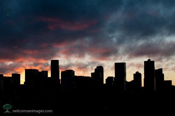 Denver Skyline at Sunrise