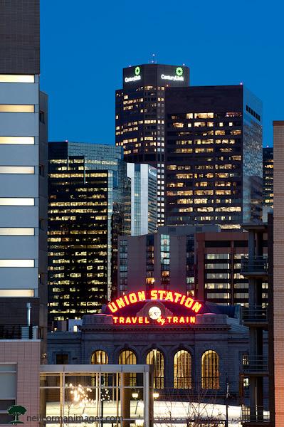 Denver Skyline at Dusk from Commons Park