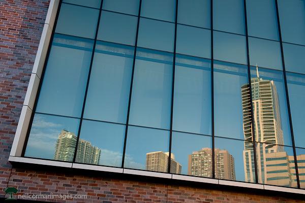 Denver Colorado Skyline Reflection