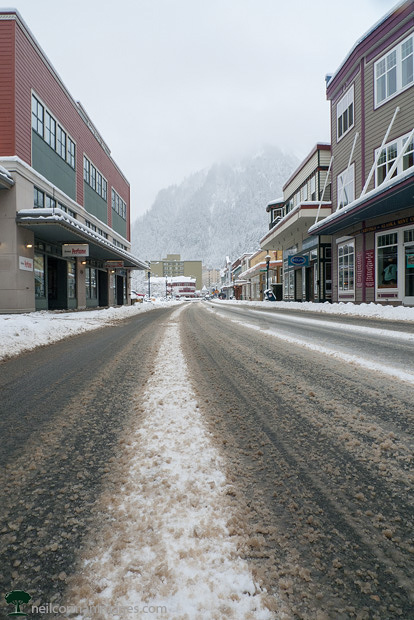 Snow in Downtown Juneau