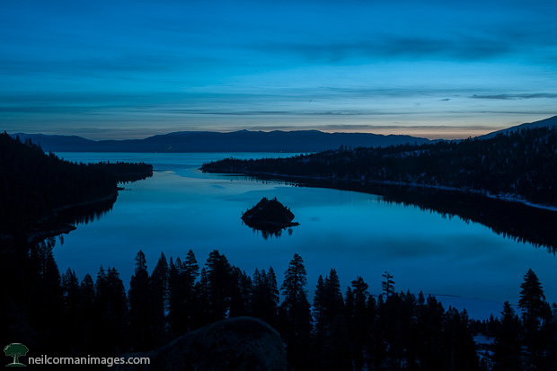 Emerald Bay in Lake Tahoe at Dawn