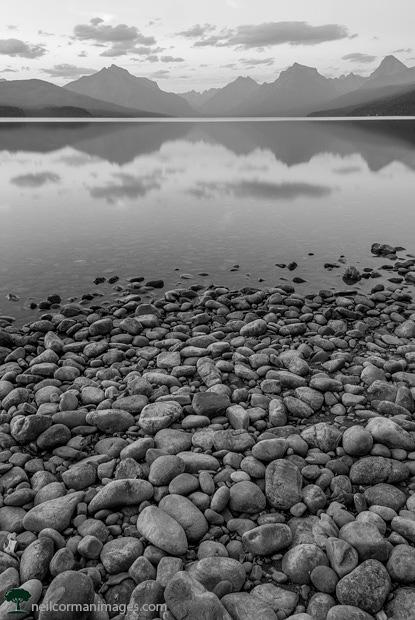 Evening at Lake McDonald in Glacier National Park