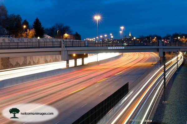 Evening Along Interstate 25 - Denver