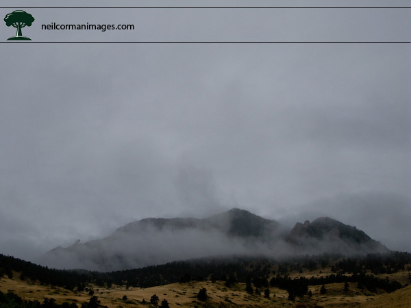 Clouds over Flatirons