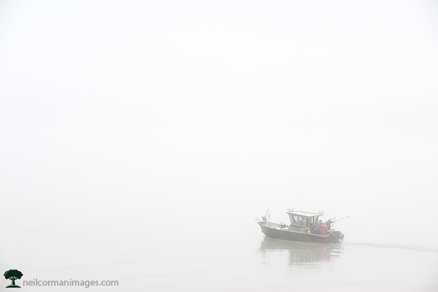Boat on a Foggy Day in Juneau