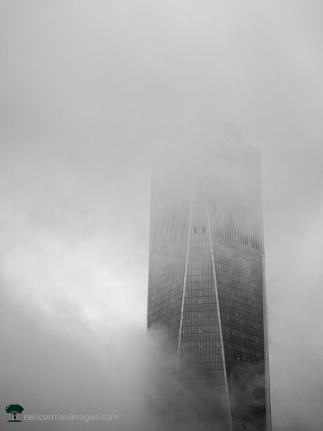 Freedom Tower in the New York City Clouds