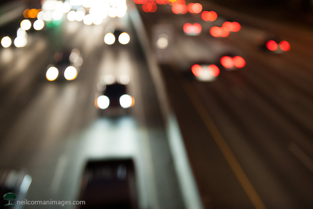 Freeway Traffic in the Evening