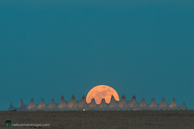 Full Moon at Denver International Airport