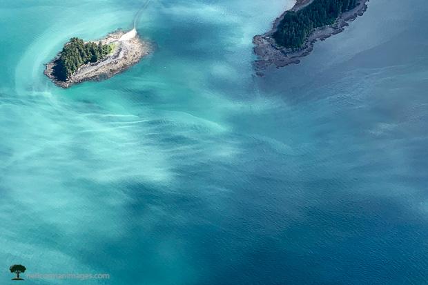 Glacier Water Meets Salt Water in Alaska