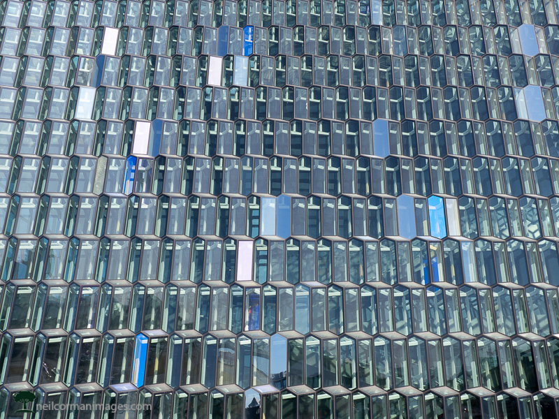 The Facade of Harpa in Iceland
