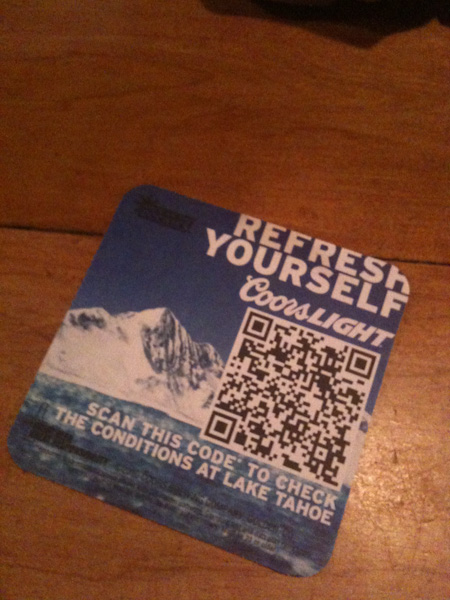 Good use of a QR Code