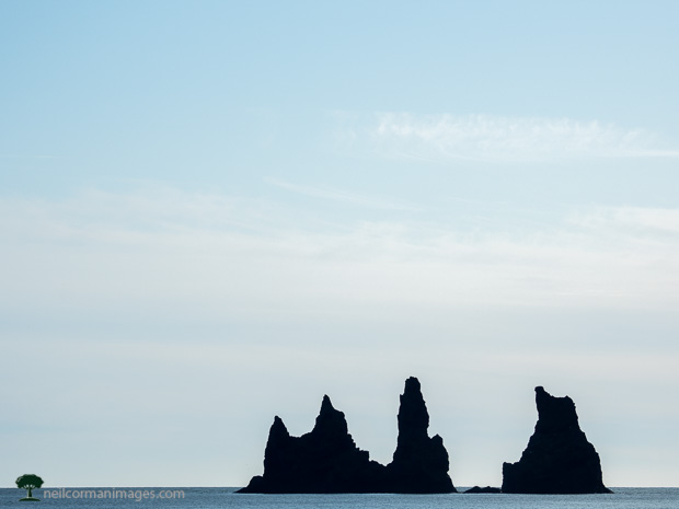 Ocean Stacks off the coast of Iceland