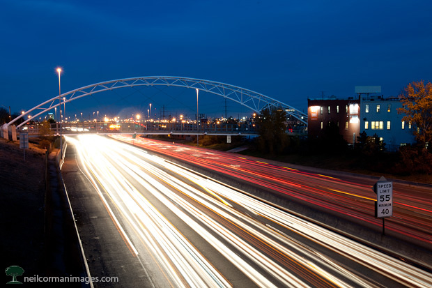 Rush Hour along Interstate 25 in Denver