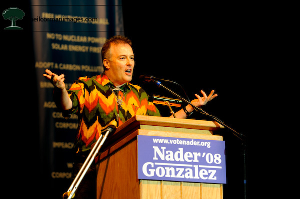 Jello Biafra at the Ralp Nader Super Rally