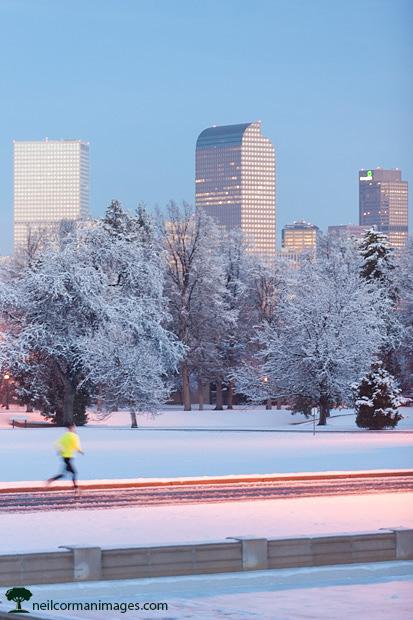 Jogging in Denver
