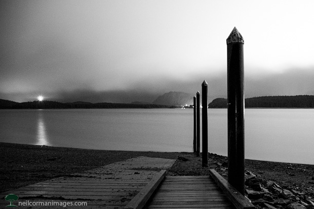 Juneau - North Douglas Boat Ramp at Night