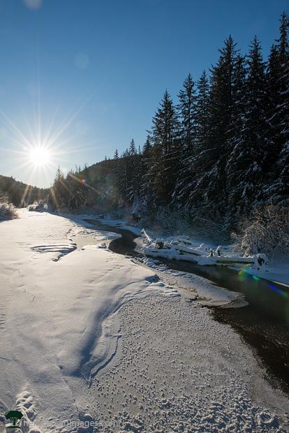 Eagle River Juneau Winter