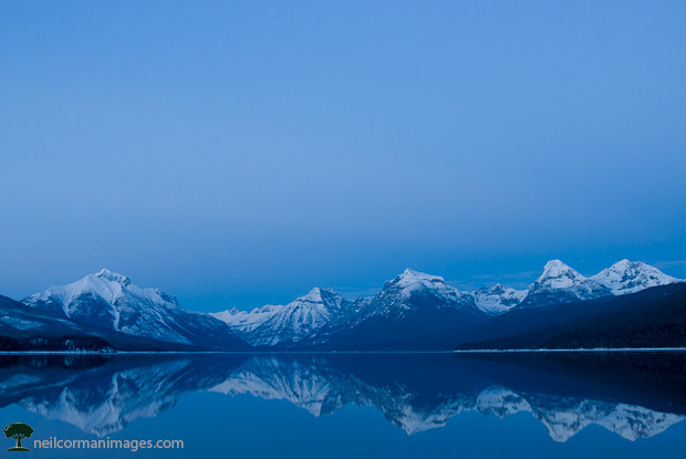 Lake McDonald at Glacier National Park in Winter
