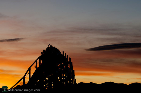 Sunset at Lakeside Amusement Park in Denver