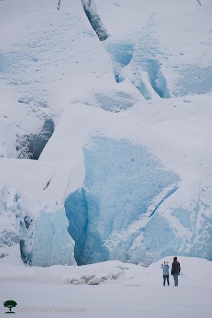 Mendenhall Glacier in the Winter