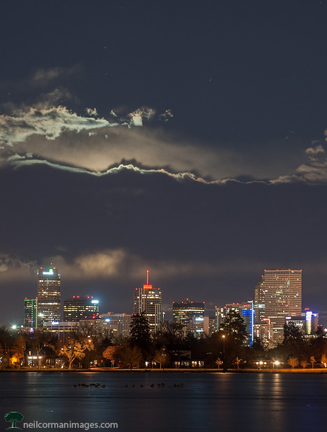 Moonrise in Denver