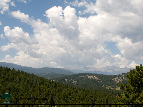 Mount Evans from Evergreen Mountain