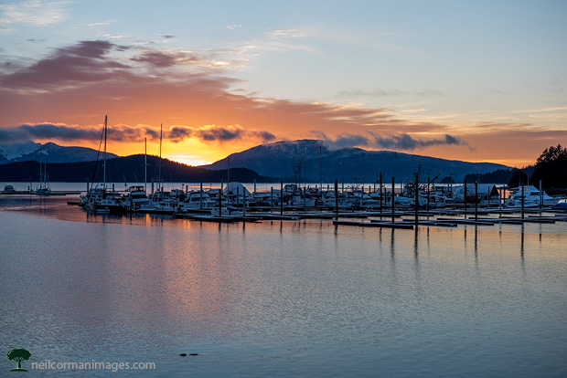 New Years Day Sunset in Juneau